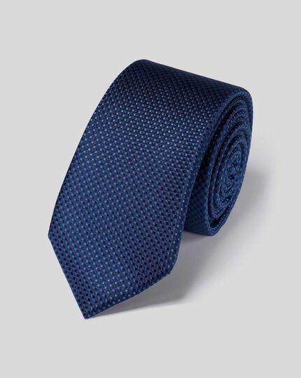 Stain Resistant Silk Slim Tie - Navy