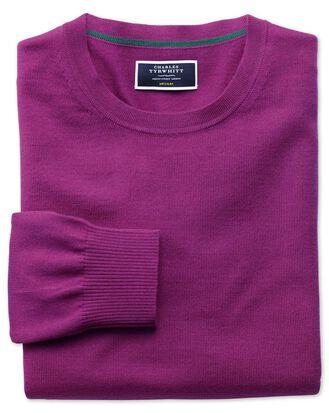 Berry merino wool crew neck sweater