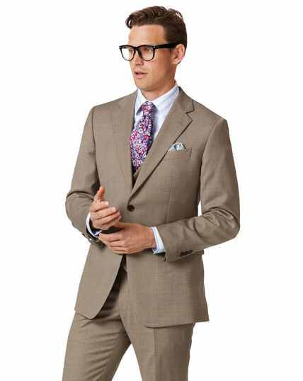 Fawn classic fit twill business suit jacket