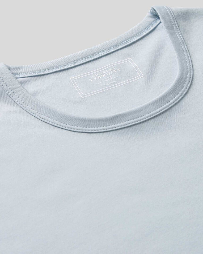 Smart Jersey Tyrwhitt T-Shirt - Ice Blue