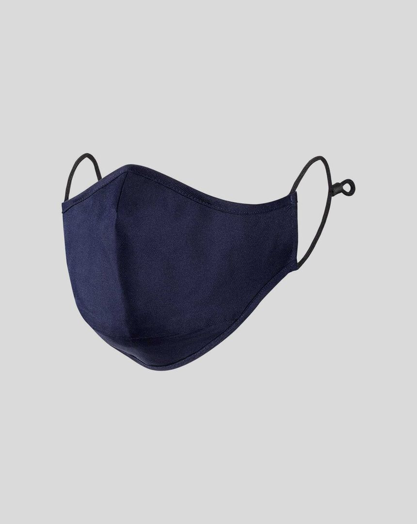 Cotton Twill Face Mask - Navy