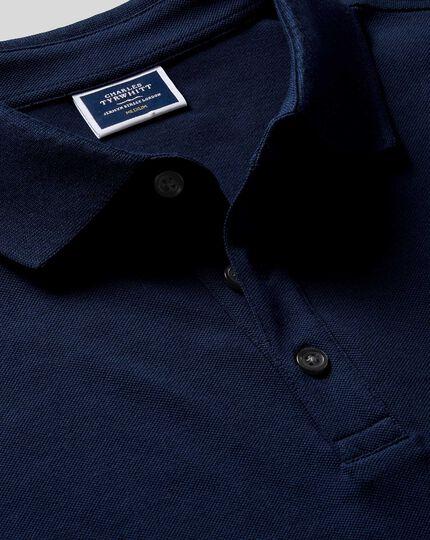 Polo Tyrwhitt en piqué - Bleu marine
