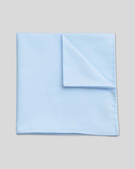 Einstecktuch aus Baumwolle - Himmelblau