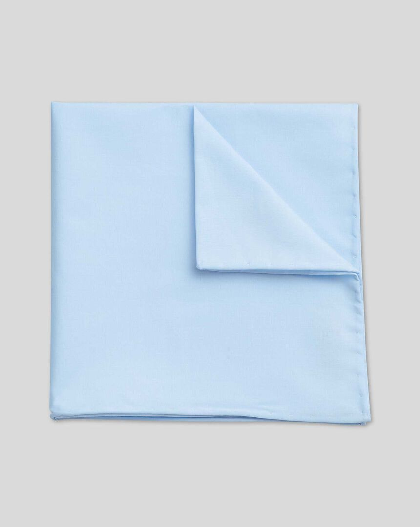 Cotton Pocket Square - Sky