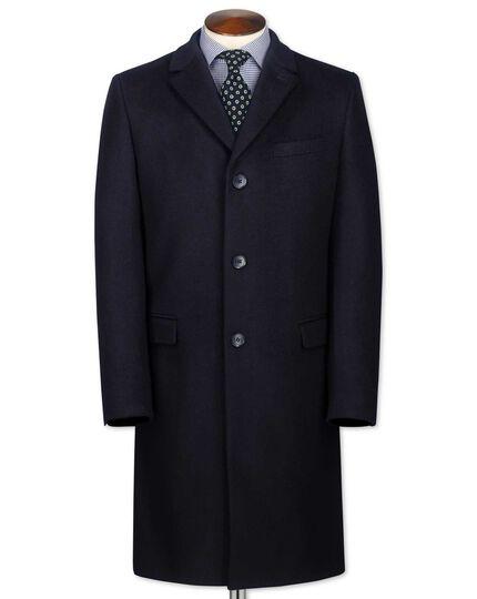 Slim Fit Mantel aus Wolle / Kaschmir in MarineBlau