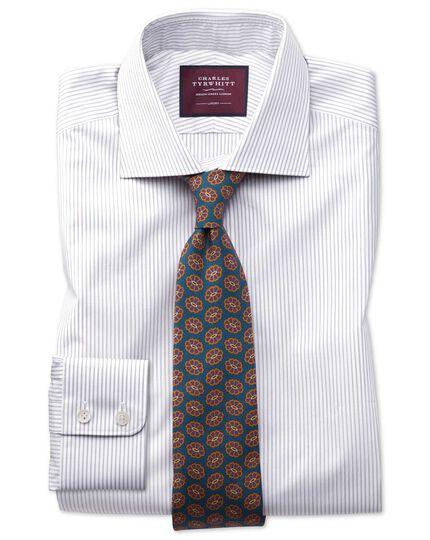 Classic fit grey stripe luxury shirt
