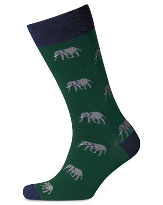 Green elephant socks