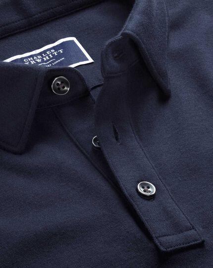 Jersey-Polohemd in Marineblau