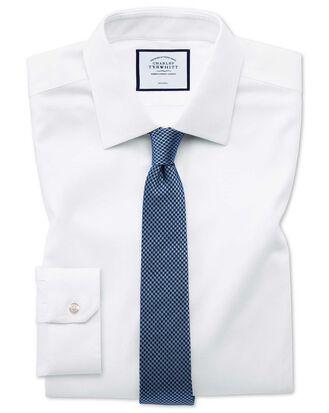 Super slim fit non-iron white triangle weave shirt