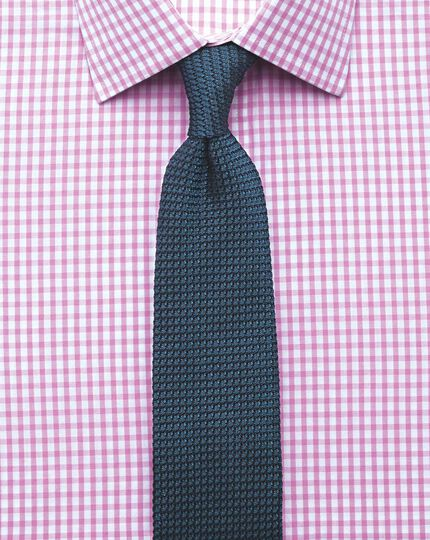 Slim Fit Hemd in Rosa mit Gingham-Karos