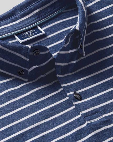 Tyrwhitt Bio-Polo mit Streifen - Blau & Weiß
