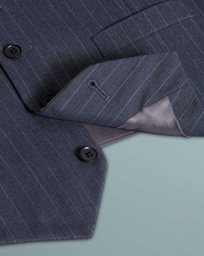 Airforce blue stripe classic fit Panama business suit