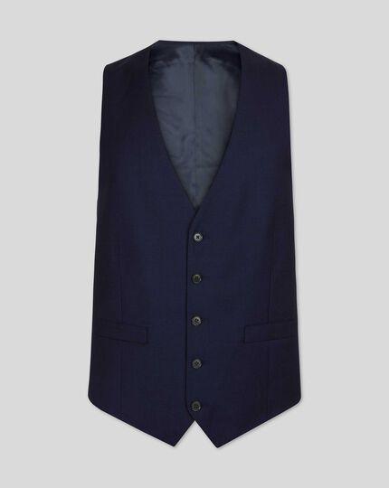 Birdseye Half Canvas Suit Waistcoat - Ink Blue