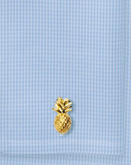 Gold plated pineapple cufflinks