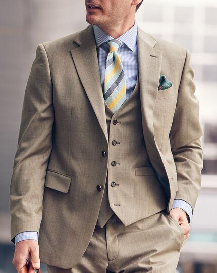 Herringbone Suit Vest - Fawn