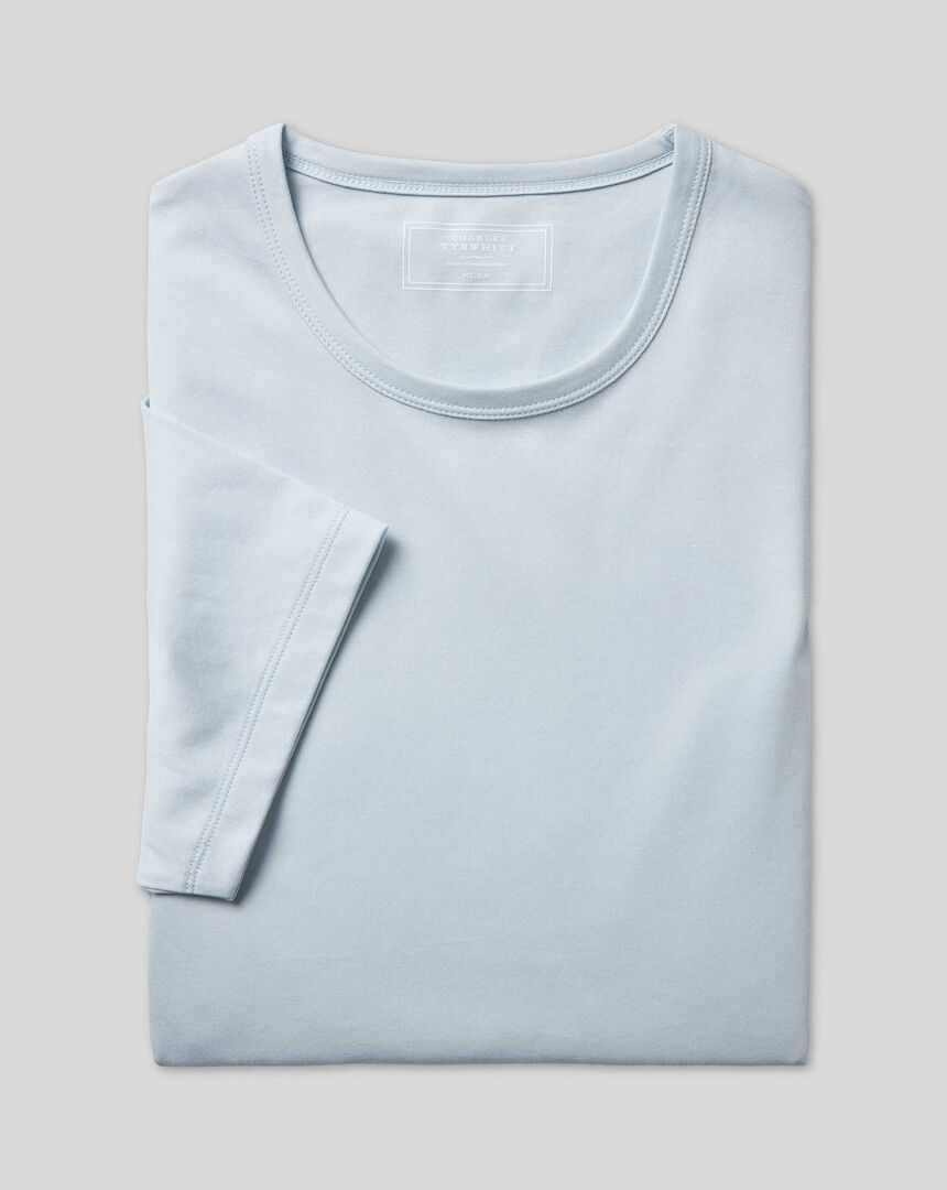 Smartes Tyrwhitt Jersey-Hemd - Eisblau