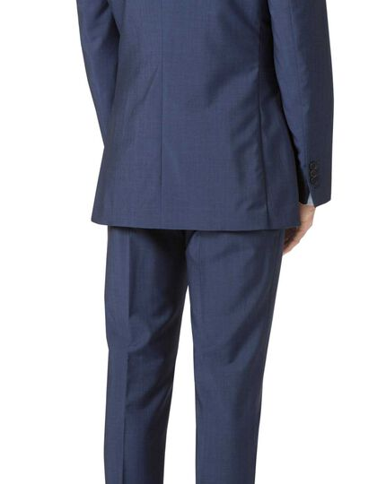 Veste de costume bleue en tissu italien luxueux slim fit