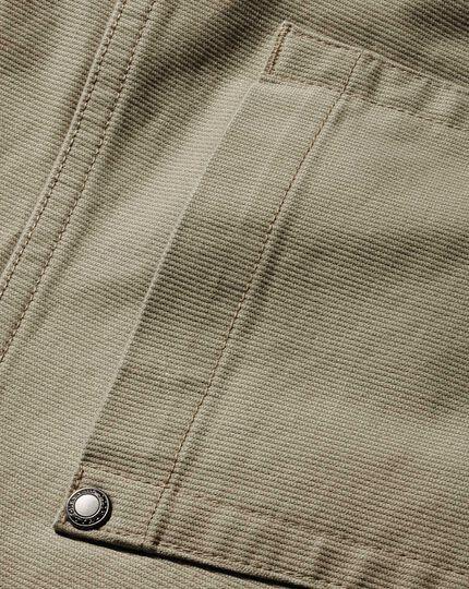 Slim Fit Bedford Cordhose mit Fünf-Taschen-Design in Leichtgrau