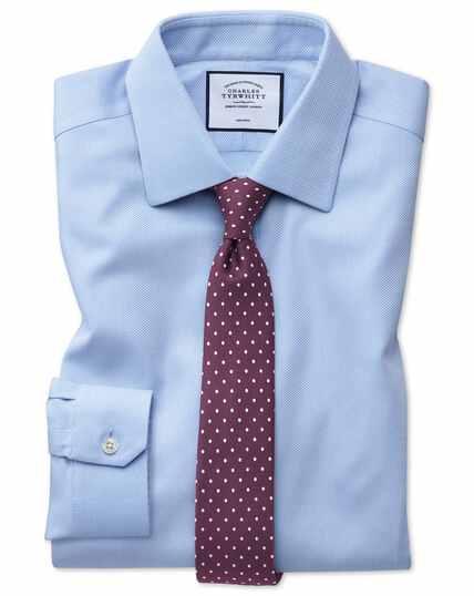 Super slim fit non-iron sky blue arrow weave shirt