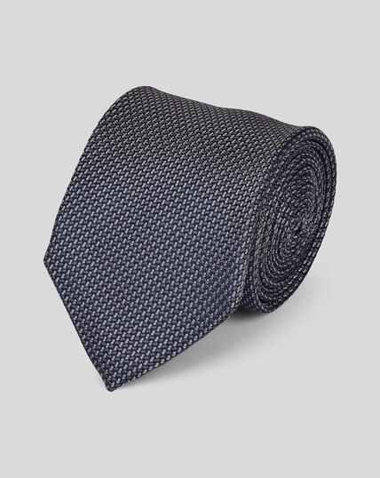 Cravate classique en soie - Gris