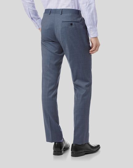 Textured Suit Trousers - Light Blue