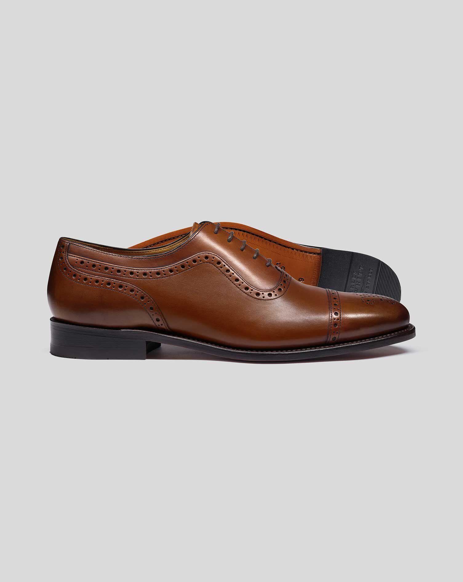 Goodyear rahmengenähte Budapester Oxford Schuhe Braun