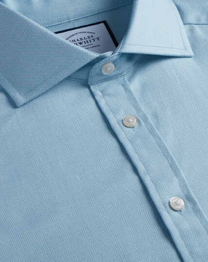 Spread Cotton Stretch With Tencel™ Shirt - Teal