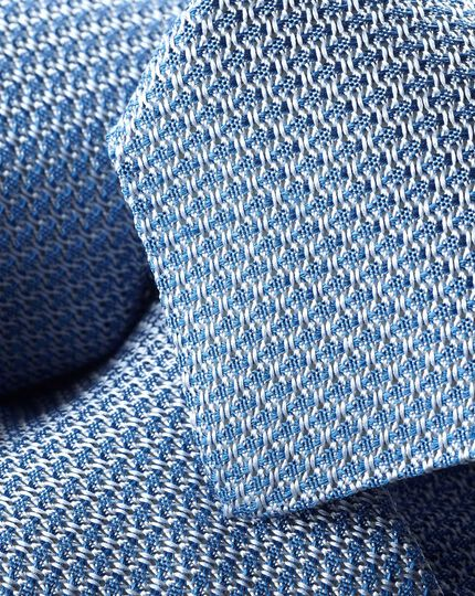 Silk Grenadine Italian Luxury Tie - Light Blue