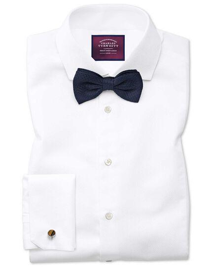 Extra slim fit spread collar non-iron luxury marcella bib white shirt