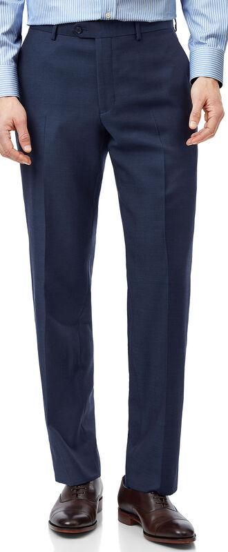 Pantalon de costume business en twill bleu coupe droite
