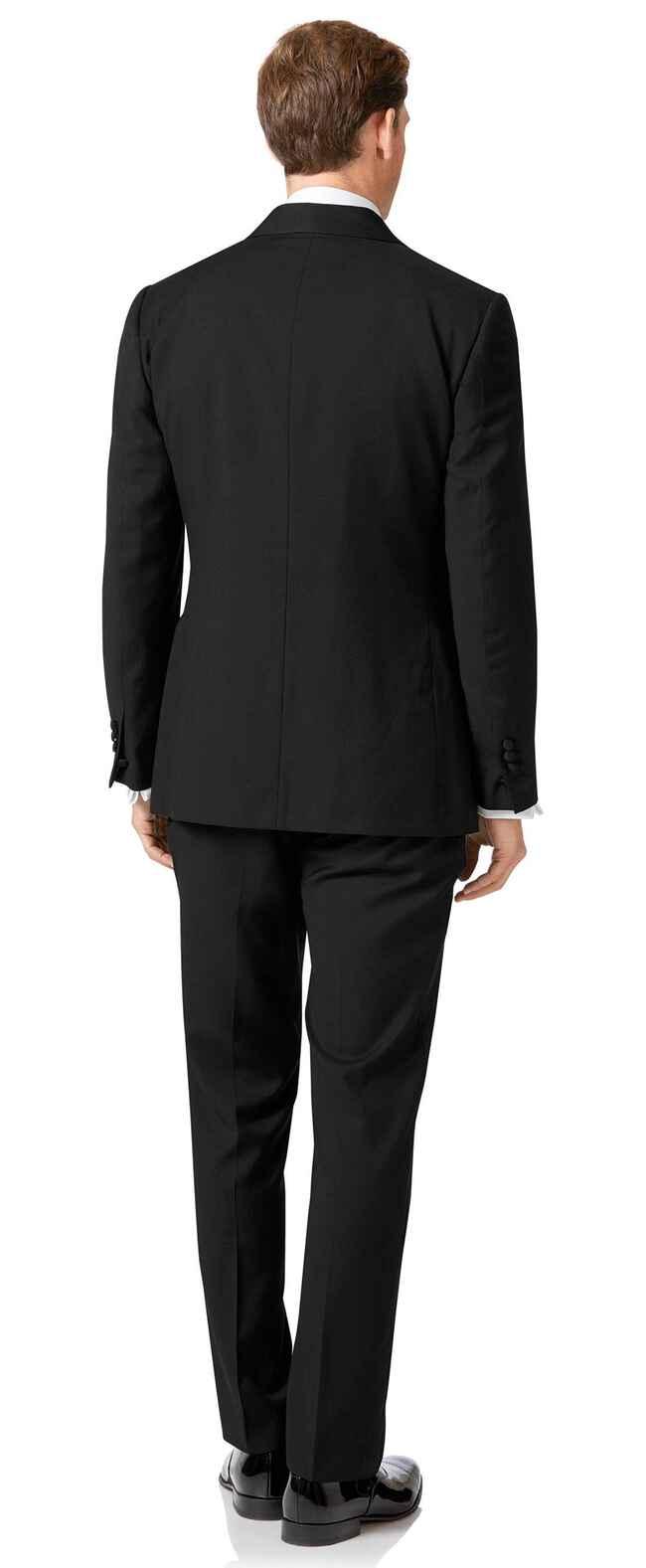 Costume de soirée noir slim fit à col châle