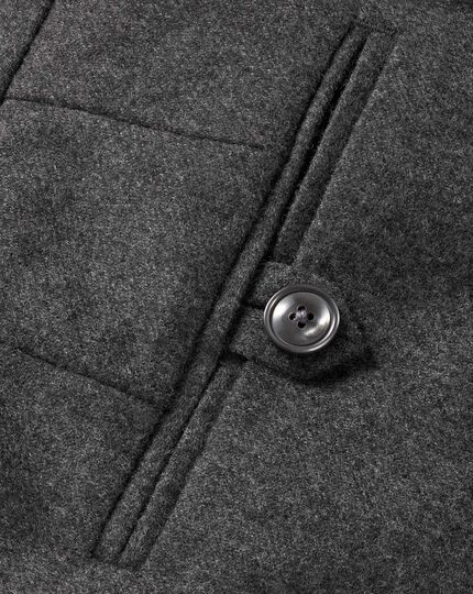 Charcoal slim fit wool flannel pants