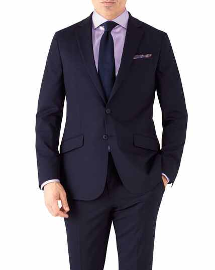 Navy slim fit performance suit jacket