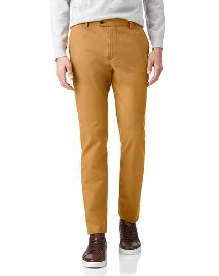 Dark yellow non-iron ultimate chinos
