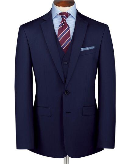 Slim Fit Business Anzug Sakko aus Twill in Königsblau