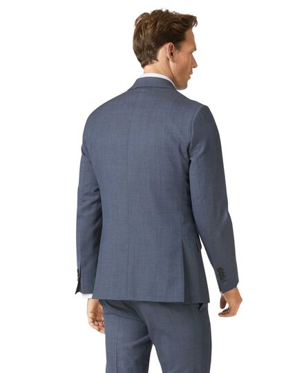 Airforce blue extra slim fit merino business suit jacket