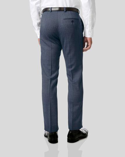 Birdseye Travel Suit Trousers - Light Blue