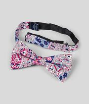 Silk Paisley Classic Bow Tie - Pink Multi