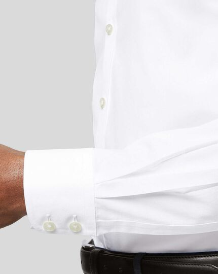 Non-Iron Poplin Shirt - White