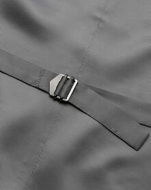 Light grey slim fit twill business suit