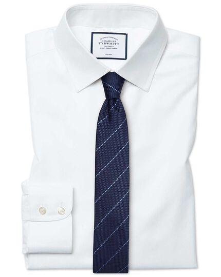 Chemise blanche en twill extra slim fit sans repassage
