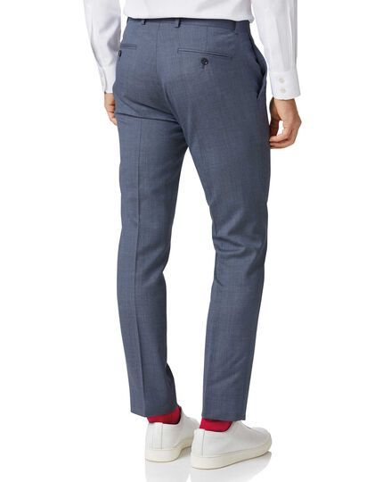 Airforce blue extra slim fit merino business suit trousers