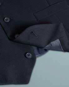 Navy slim fit herringbone business suit