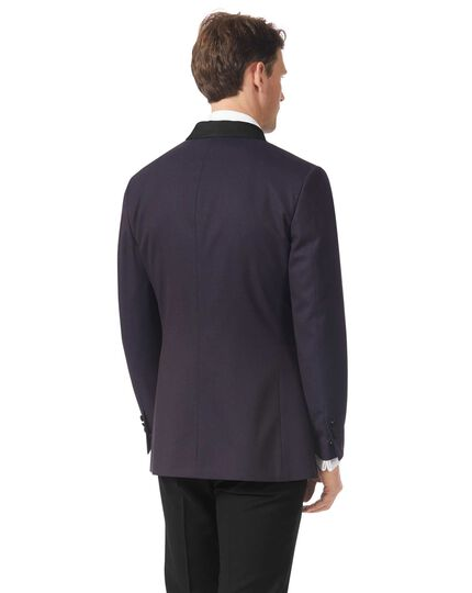 Veste de costume de soirée aubergine slim fit