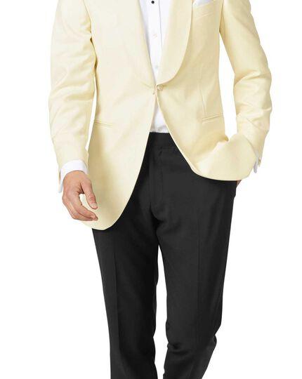 Cream slim fit dinner suit