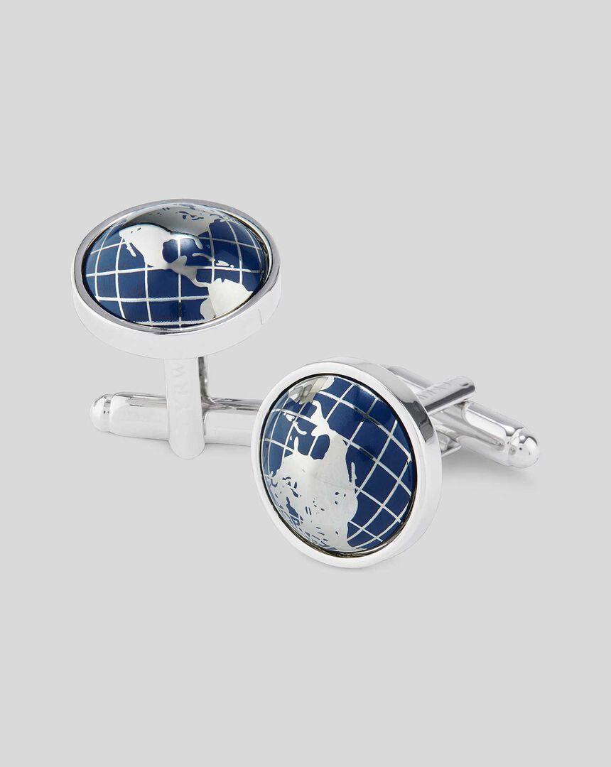 Enamel Half Globe Cufflink