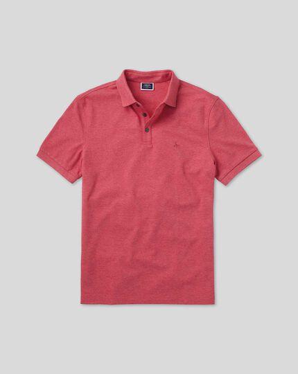 Tyrwhitt Pique Polo - Pink Marl