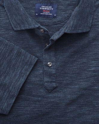 Polohemd in Jeansblau
