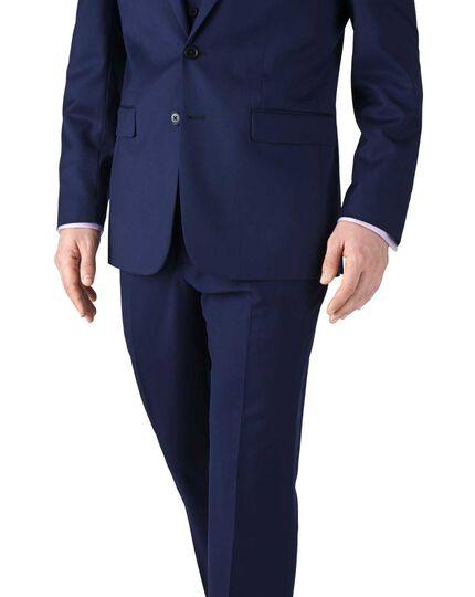 Royal blue slim fit twill business suit jacket