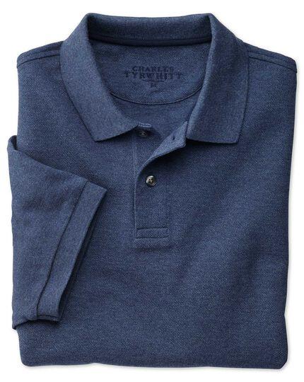 Piqué-Poloshirt in Indigoblau
